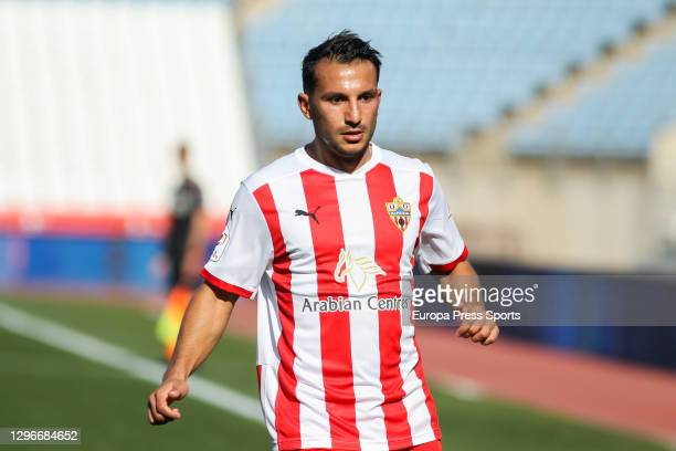 Joao Carvalho of UD Almeria in action during the spanish cup, Copa del Rey round of 32, football match played between UD Almeria and Deportivo Alaves...