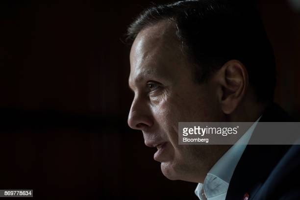 Joao Doria mayor of Sao Paulo speaks during an interview at City Hall in Sao Paulo Brazil on Wednesday Nov 1 2017 Six months ago Sao Paulo...