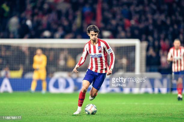 Joao Felix during La Liga match between Club Atletico de Madrid and CA Osasuna at Wanda Metropolitano on December 14, 2019 in Madrid, Spain .