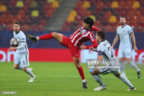 Joao Felix during the UEFA Champions League Round of 16 match between Atletico Madrid and Chelsea FC at National Arena on February 23, 2021 in...