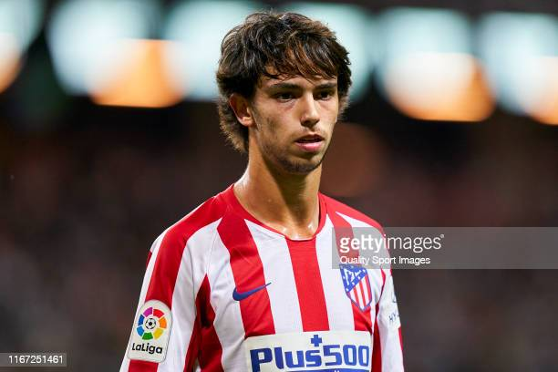 Joao Felix of Atletico de Madrid in action during a pre season friendly match between Atletico de Madrid and Juventus at Friends Arena on August 10...