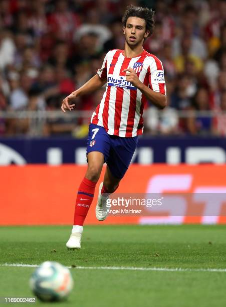 Joao Felix of Atletico de Madrid in action during the Liga match between Club Atletico de Madrid and Getafe CF at Wanda Metropolitano on August 18...