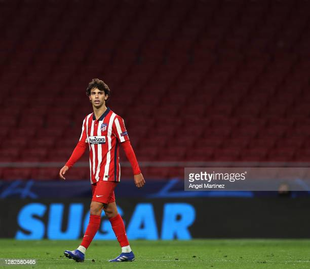 Joao Felix of Atletico de Madrid looks on during the UEFA Champions League Group A stage match between Atletico de Madrid and RB Salzburg at Estadio...
