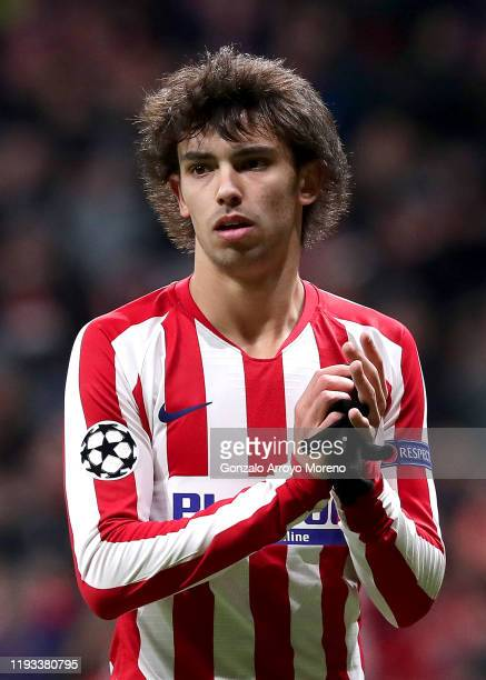 Joao Felix of Atletico Madrid applauds fans after he leaves the pitch during the UEFA Champions League group D match between Atletico Madrid and...