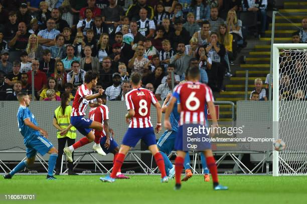 Joao Felix of Atletico Madrid celebrates scoring a goal to make the score 10 during the International Champions Cup match between Atletico Madrid and...