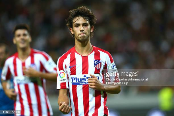 Joao Felix of Atletico Madrid celebrates scoring a goal to make the score 21 during the International Champions Cup match between Atletico Madrid and...