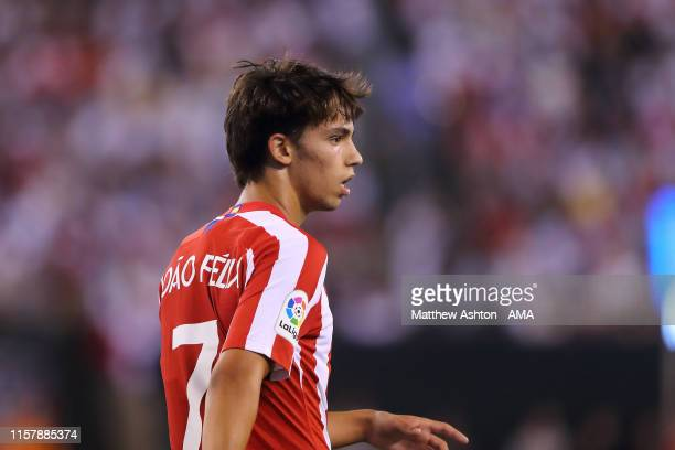 Joao Felix of Atletico Madrid during the 2019 International Champions Cup match between Real Madrid and Atletico de Madrid at MetLife Stadium on July...