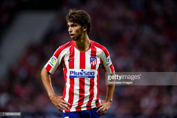Joao Felix of Atletico Madrid during the La Liga Santander match between Atletico Madrid v Eibar at the Estadio Wanda Metropolitano on September 1...