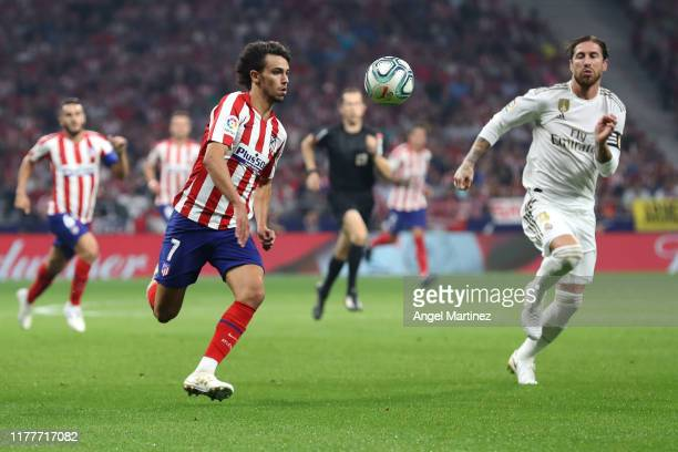 Joao Felix of Atletico Madrid in action during the Liga match between Club Atletico de Madrid and Real Madrid CF at Wanda Metropolitano on September...