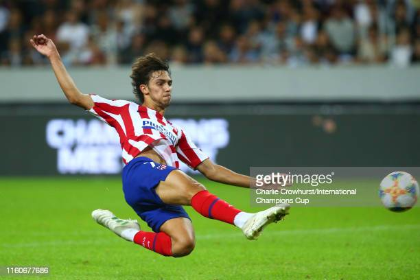 Joao Felix of Atletico Madrid scores a goal to make the score 21 during the International Champions Cup match between Atletico Madrid and Juventus on...