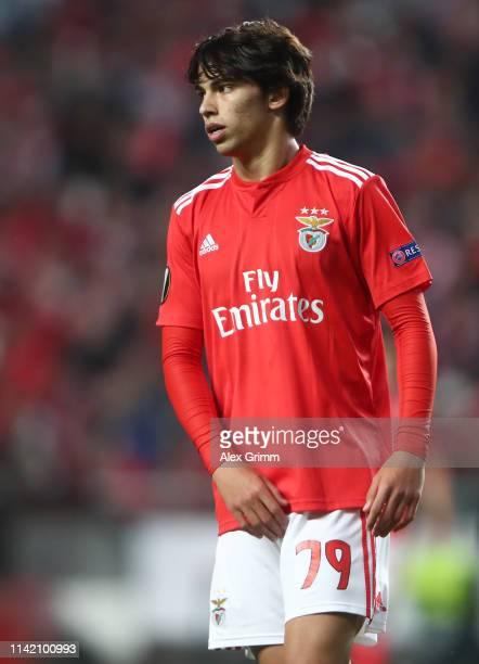 Joao Felix of Benfica reacts during the UEFA Europa League Quarter Final First Leg match between Benfica and Eintracht Frankfurt at Estadio do Sport...