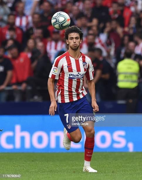 Joao Felix of Club Atletico de Madrid runs towards the ball during the Liga match between Club Atletico de Madrid and RC Celta de Vigo at Wanda...