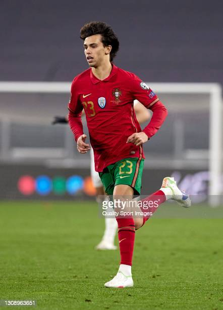 Joao Felix of Portugal in action during the FIFA World Cup 2022 Qatar qualifying match between Portugal and Azerbaijan at Allianz Stadium on March...