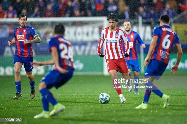 Joao Felix of SD Eibar in action during the Liga match between SD Eibar SAD and Club Atletico de Madrid at Ipurua Municipal Stadium on January 18,...