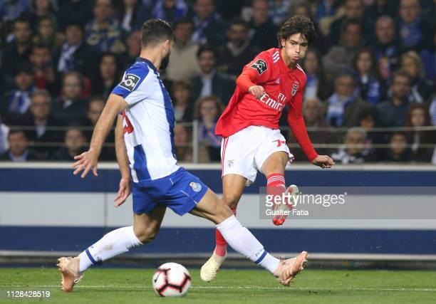 Joao Felix of SL Benfica in action during the Liga NOS match between FC Porto and SL Benfica at Estadio do Dragao on March 2 2019 in Porto Portugal