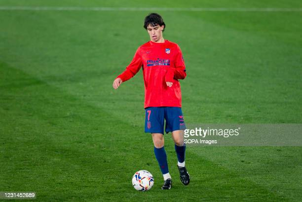 Joao Felix Sequeira of Atletico de Madrid in action during the Spanish La Liga football match between Villarreal CF and Atletico de Madrid at Estadio...