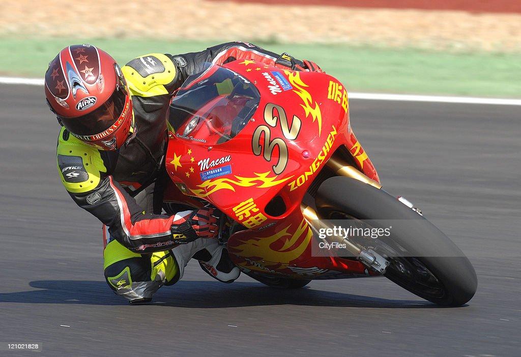 Joao Fernandes (POR) during training for the 2006 Estoril Moto GP in Estoril, Portugal on October 14, 2006.
