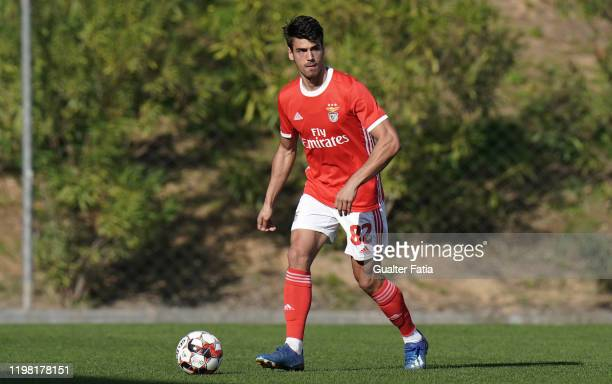 Joao Ferreira of SL Benfica B in action during the Liga Pro match between SL Benfica B and UD Vilafranquense at Benfica Campus on February 2 2020 in...