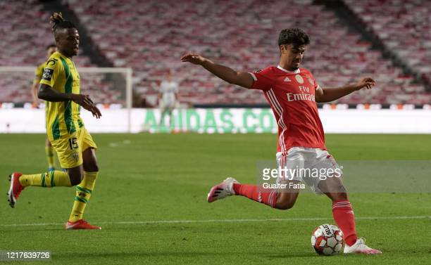 Joao Filipe Jota of SL Benfica in action during the Liga NOS match between SL Benfica and CD Tondela at Estadio da Luz on June 4 2020 in Lisbon...