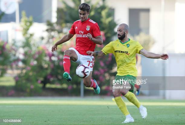Joao Filipe of SL Benfica B with Bruninho of CD Mafra in action during the Ledman Liga Pro match between SL Benfica B and CD Mafra at Caixa Futebol...