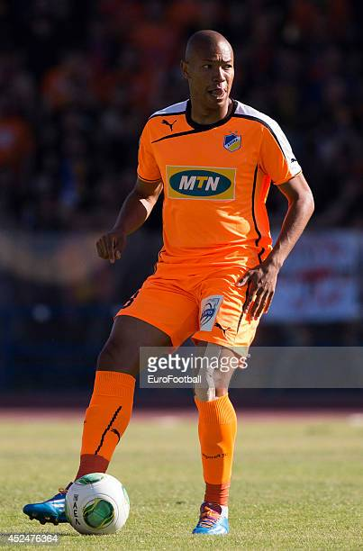 Joao Guilherme of APOEL FC in action during the Cypriot First Division match AEL Limassol FC and APOEL FC at the Tsirion Stadium on May 17 2014 in in...