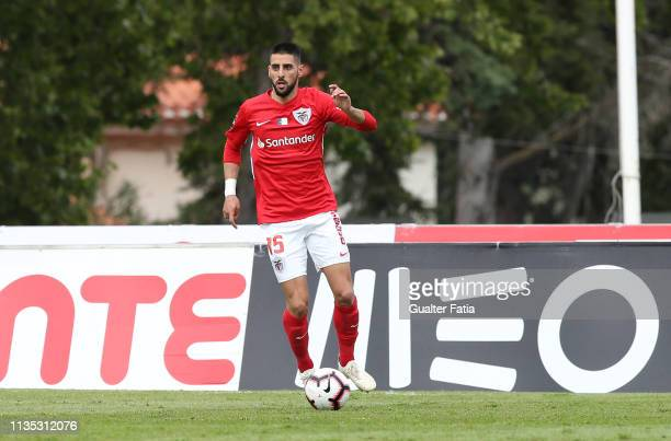 Joao Lucas of CD Santa Clara in action during the Liga NOS match between Belenenses SAD and CD Santa Clara at Estadio Nacional on April 6, 2019 in...