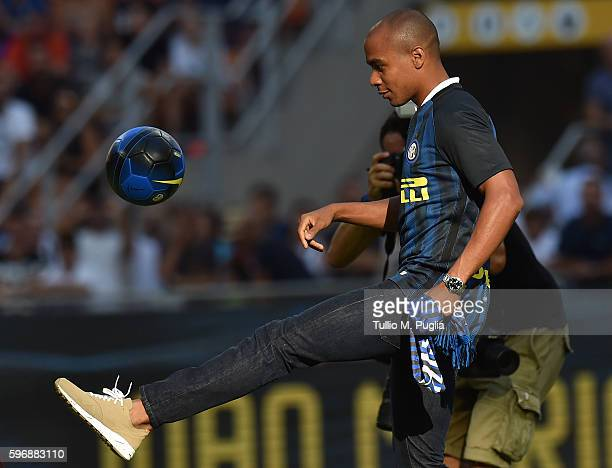 Joao Mario new player of Internazionale is presented before the Seria A match between FC Internazionale and US Citta di Palermo at Stadio Giuseppe...