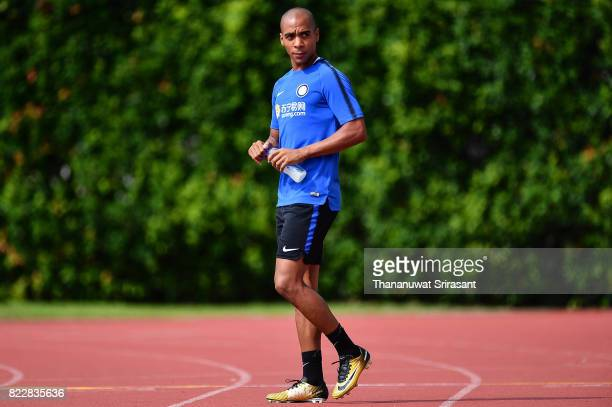 Joao Mario of FC Inter Milan looks during a training session of International Champions Cup training session at Bishan Stadium on July 26 2017 in...