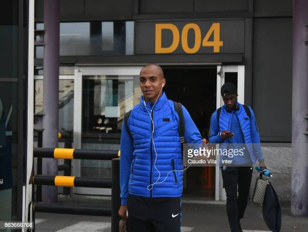 Joao Mario of FC Internazionale departs to Naples on October 20 2017 in Milan Italy