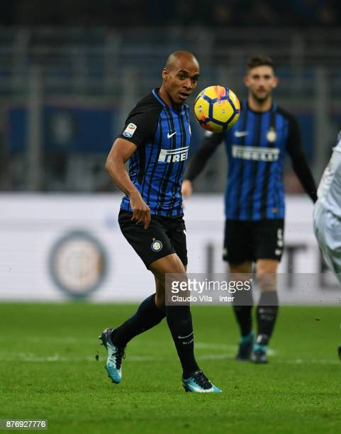 Joao Mario of FC Internazionale in action during the Serie A match between FC Internazionale and Atalanta BC at Stadio Giuseppe Meazza on November 19...