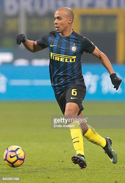 Joao Mario of FC Internazionale Milano in action during the Serie A match between FC Internazionale and Pescara Calcio at Stadio Giuseppe Meazza on...