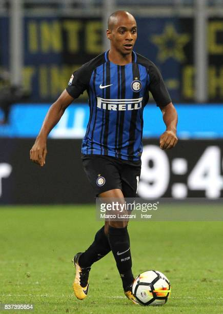 Joao Mario of FC Internazionale Milano in action during the Serie A match between FC Internazionale and ACF Fiorentina at Stadio Giuseppe Meazza on...