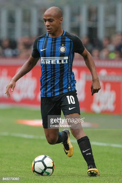Joao Mario of FC Internazionale Milano in action during the Serie A match between FC Internazionale and Spal at Stadio Giuseppe Meazza on September...