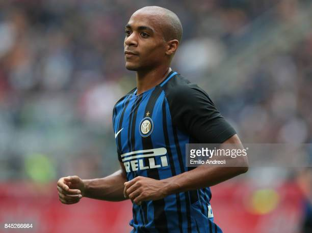 Joao Mario of FC Internazionale Milano looks on during the Serie A match between FC Internazionale and Spal at Stadio Giuseppe Meazza on September 10...