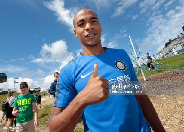 Joao Mario of FC Internazionale Milano visits Plan de Corones during the FC Internazionale training camp on July 13 2017 in Reischach near Bruneck...
