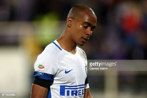 Joao Mario of FC Internazionale shows his dejection during the Serie A match between ACF Fiorentina v FC Internazionale at Stadio Artemio Franchi on...
