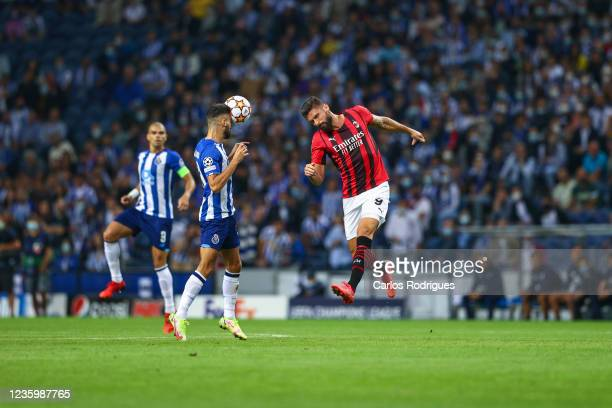 Joao Mario of FC Porto heads the ball during the UEFA Champions League group B match between FC Porto and AC Milan at Estadio do Dragao on October...
