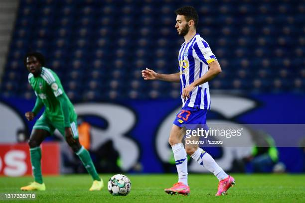 Joao Mario of FC Porto in action during the Liga NOS match between FC Porto and SC Farense at Estadio do Dragao on May 10, 2021 in Porto, Portugal....