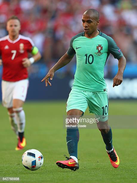 Joao Mario of Portugal during the UEFA EURO 2016 Group F match between Hungary and Portugal at Stade des Lumieres on June 22 2016 in Lyon France