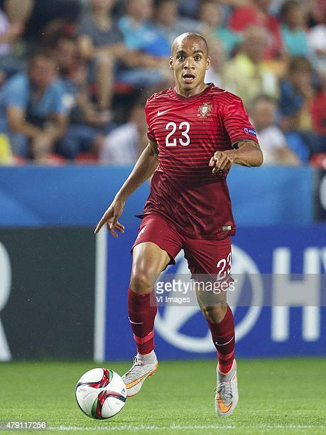 Joao Mario of Portugal during the UEFA European Under21 Championship final match between Sweden and Portugal on June 30 2015 at the Eden stadium in...