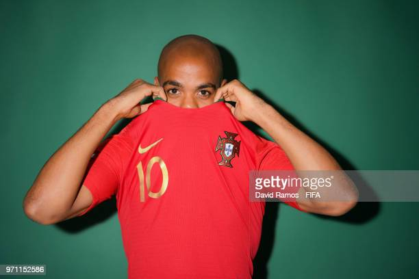 Joao Mario of Portugal poses during the official FIFA World Cup 2018 portrait session at Saturn Training Base on June 10 2018 in Moscow Russia