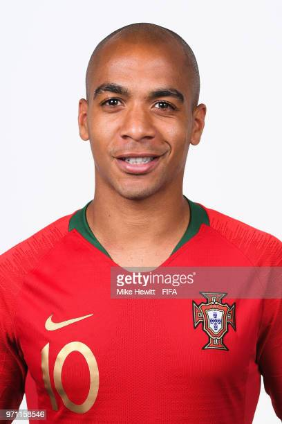 Joao Mario of Portugal poses for a portrait during the official FIFA World Cup 2018 portrait session at on June 10 2018 in Moscow Russia
