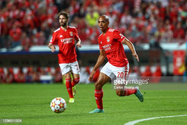 Joao Mario of SL Benfica during the UEFA Champions League group E match between SL Benfica and Bayern Muenchen at Estadio da Luz on October 20, 2021...