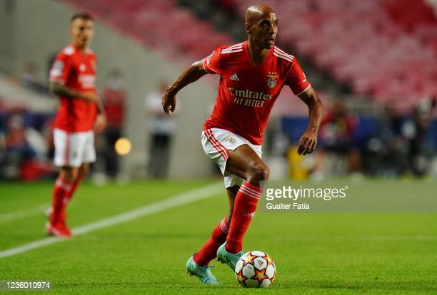 Joao Mario of SL Benfica in action during the Group E - UEFA Champions League match between SL Benfica and Bayern Munchen at Estadio da Luz on...