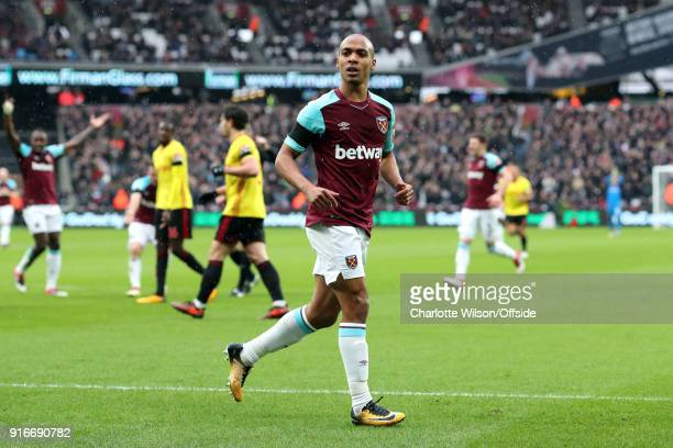 Joao Mario of West Ham during the Premier League match between West Ham United and Watford at London Stadium on February 10 2018 in London England