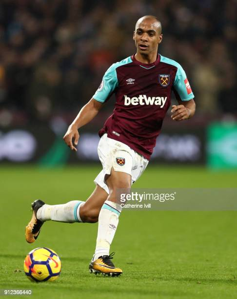 Joao Mario of West Ham United during the Premier League match between West Ham United and Crystal Palace at London Stadium on January 30 2018 in...