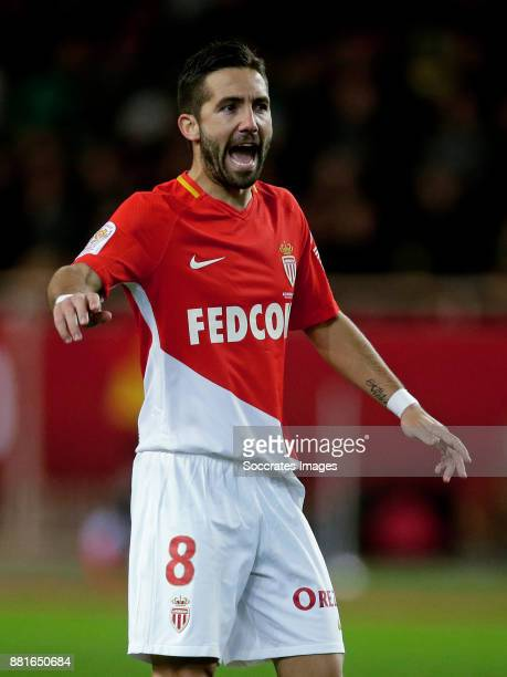 Joao Moutinho of AS Monaco during the French League 1 match between AS Monaco v Paris Saint Germain at the Stade Louis II on November 26 2017 in...