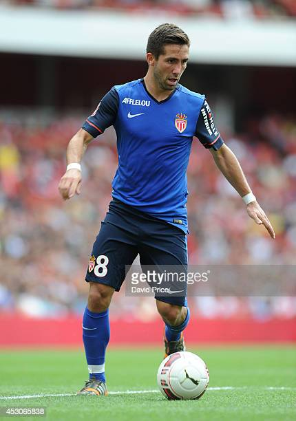 Joao Moutinho of Monaco during the Emirates Cup match between Valencia and AS Monaco at Emirates Stadium on August 2 2014 in London England