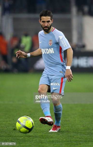 Joao Moutinho of Monaco during the French Ligue 1 match between Olympique de Marseille and AS Monaco at Stade Velodrome on January 28 2018 in...