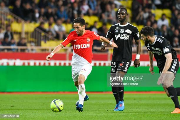 Joao Moutinho of Monaco during the Ligue 1 match between AS Monaco and Amiens SC at Stade Louis II on April 28 2018 in Monaco